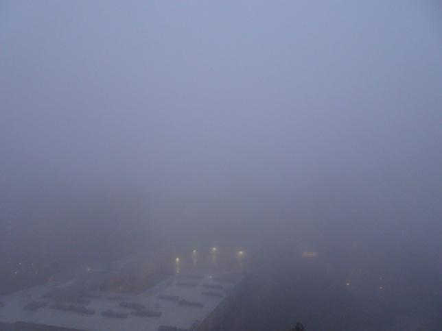 Atlanta white-out fog