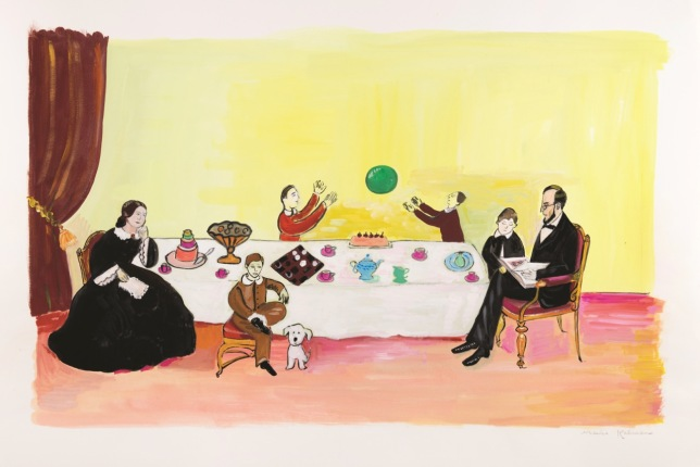 """Maira Kalman (American, born Israel, 1949), """"He had a family that he loved very much,"""" 2012, illustration for Looking at Lincoln (Nancy Paulsen Books, 2012), gouache on paper, 15 1/8 x 22 inches. © Maira Kalman, courtesy of Julie Saul Gallery, New York. All rights reserved."""